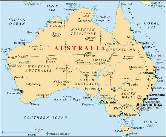 Map Perth Australia