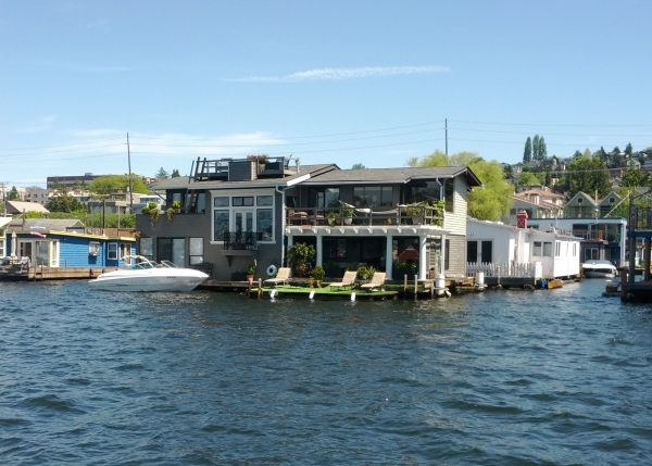 Houseboat neighborhood on Lake Union.