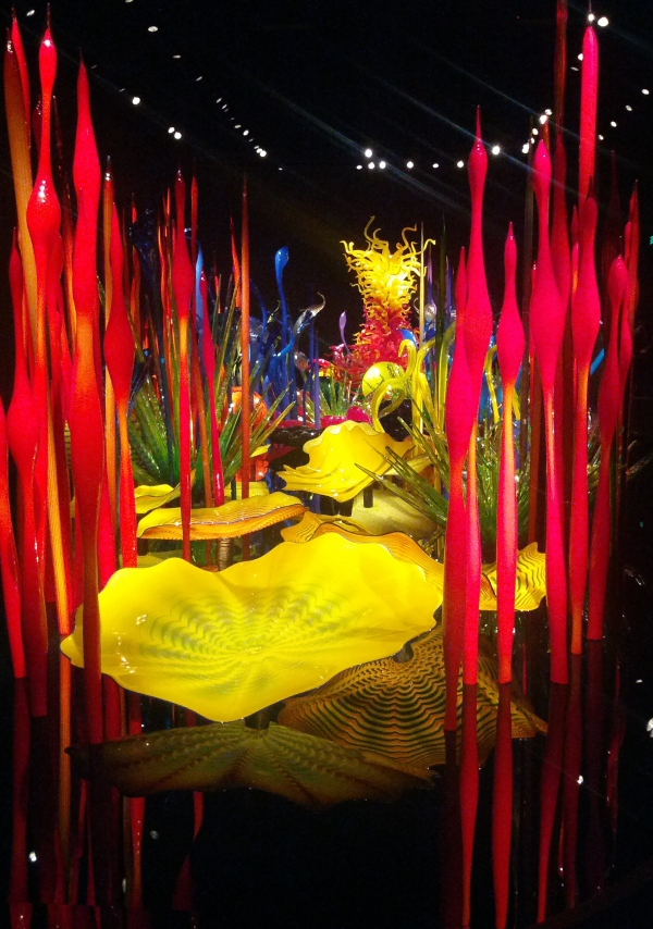 One of the incredible exhibits inside the Chihuly Gardens.